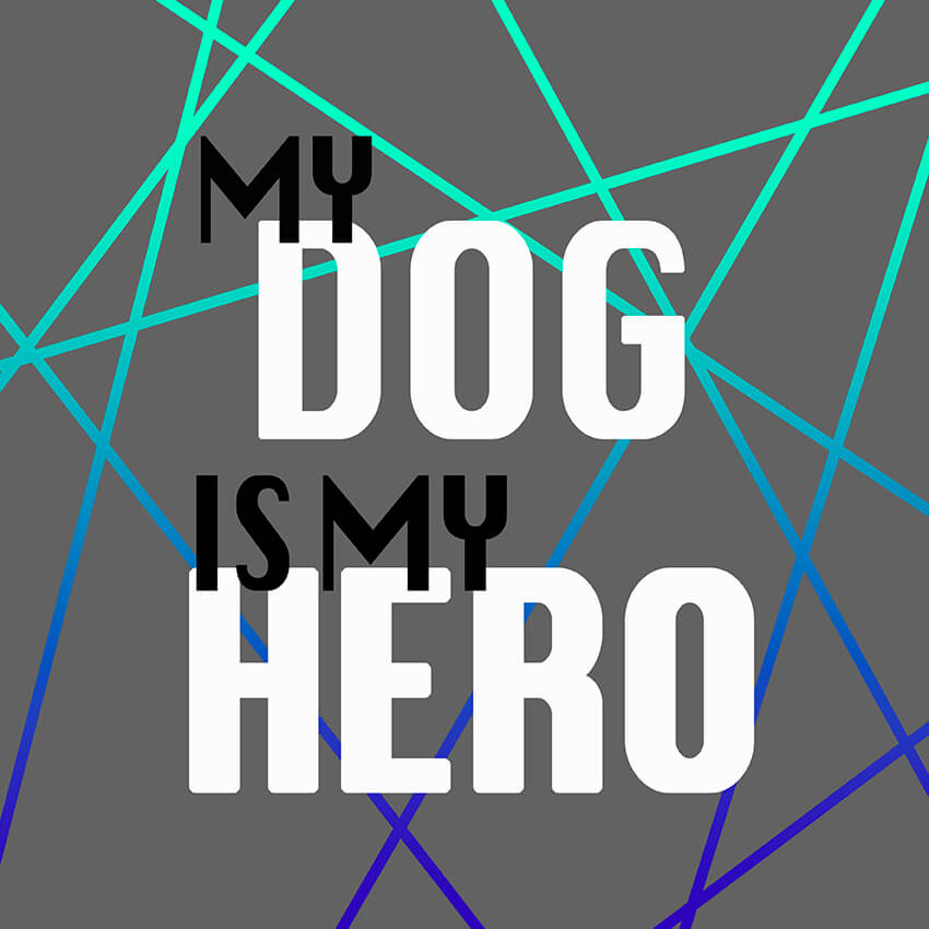 My dog is my hero